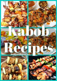 Fire up the grill and prepare the marinade! You will be licking your lips when you see these Ten Kabob Recipe ideas to try this summer. Kabob Recipes, Fun Easy Recipes, Grilling Recipes, Pork Recipes, Summer Recipes, Pasta Recipes, Dinner Recipes, Appetizer Recipes, Chicken Recipes