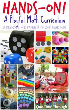 Playful Hands-On Math Curriculum~great info on types of math studies
