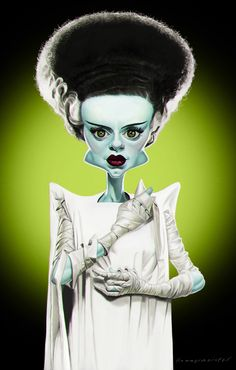 The Bride of Frankenstein on Behance ★ Find more at http://www.pinterest.com/competing/