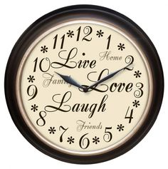 Live Love Laugh Wall Clock.