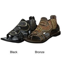 1ec95611f155  Overstock.com - Colorful bead detailing decorates these incredible sandals  from Diba. A