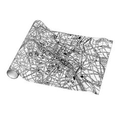 Vintage Map of Paris (1911) Gift Wrap Paper $16.95
