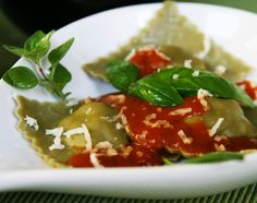Lamb/spinach ravioli in red sauce  www.whatscookingwithdoc.com  jefenster