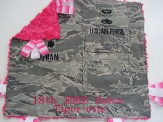 This Tabbie Blankie was created for a special Air Force family in Okinawa, Japan. Military Gifts, You Are Special, Shining Star, Okinawa Japan, Baby Headbands, Baby Fever, Future Baby, Air Force, Daddy