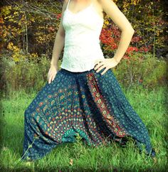 Handmade Teal Harem Pants New Fall Collection by Cloud9Jewels✿⊱╮