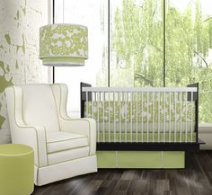 Baby Nursery: Endearing Light Green Black And White Baby Nursery Room Decoration Using Light Green Baby Bed Valance Including Drum Light Green Pendant Lamp Shade In Baby Room And Accent Pattern Light Green Baby Crib Bedding Set, black and white nurseries, Baby Crib Sets, Baby Boy Bedding, Crib Bedding Sets, Nursery Bedding, Baby Cribs, Nursery Room, Church Nursery, Garden Nursery, Crib Sheets