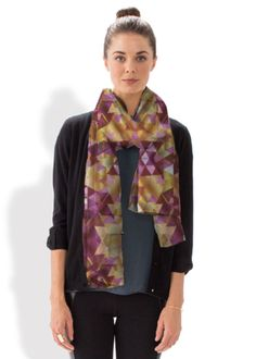 Scarf holiday sale! use code VOICESINSIDER for 15% off, until 26 November 2015 only #shopvida #vida #scarf #holidaysale #holiday #discount #fashionsale #fashion #upscale #clothing #apparel #geometric #triangle