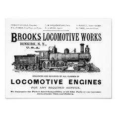"""Brooks Steam Locomotive Works 1890 Kodak Photo Print - 16""""X12"""" - $13.95 -Made by Zazzle Art, Sold by Zazzle, Designed by  #stanrail - Media: Kodak Professional Photo Paper (Satin) The Brooks Locomotive Works was officially formed on November 11,1869., by H.G. Brooks.It then became a major locomotive builder. The company was merged with several other manufacturers in 1901 to form the American Locomotive Company or ALCO. #stanrails_store"""