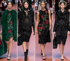 Milan Fashion Week Dolce and Gabbana Fall Winter 2015-2016 Dresses 2