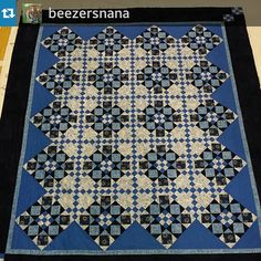 "bonniekhunter: "" #Repost from @beezersnana Another great Double Delight Finish! Love Judith ' rendition of this Quiltville mystery! #quilt #quilting #patchwork #quiltville #bonniekhunter Blue Geranium..."