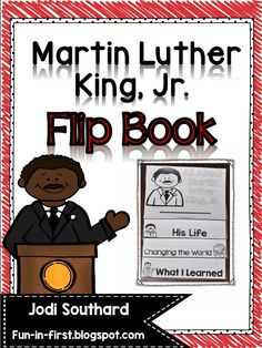 This Martin Luther King, Jr. Flip Book is a quick activity that is perfect for teaching about MLK. Students will read a two page biography about Martin Luther King, Jr. and then answer comprehension questions on the last Martin L King, Martin Luther King Day, Mlk Jr Day, Classroom Activities, Classroom Décor, Toddler Activities, Teaching Social Studies, King Jr, School Holidays