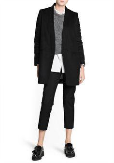Masculine Women Clothing   Mango Masculine Cashmere Woolblend Coat in Black - Lyst