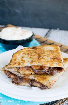 Dit wordt jouw nieuwe lievelingsgerecht: Banaan & Nutella quesadilla's! - Zelfmaak ideetjes