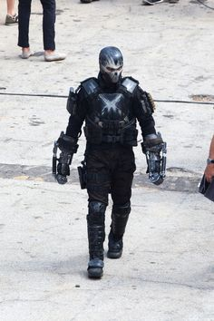 First photo of Crossbones on set of Captain America: Civil War. - The Nerdist.