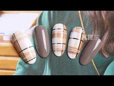 【Teach Me- 34th phase】simple lattice pattern style nails【你求窝教-第34期】大气简洁格纹款.mp4 - YouTube Plaid Nail Art, Plaid Nails, Christmas Nail Designs, Christmas Nails, Learn Art, Fabric Textures, Pattern Fashion, Cute Nails, Nail Art Designs