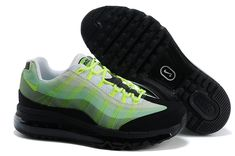 Cheap Air Max 95 Women Shoes Black Green Nike Shoes Cheap cae32e7f0e