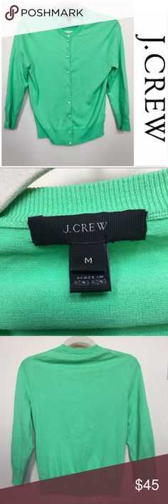 "✨ J. Crew ""Cotton Jackie Cardigan Sweater ✨ This is the J. Crew ""Cotton Jackie Cardigan Sweater"" in a light green. It is in great condition and has a crewneck. The sleeves are a little longer than 3/4 length and the fabric is a cotton/spandex/nylon mix. It is a size Medium. J. Crew Sweaters Cardigans"