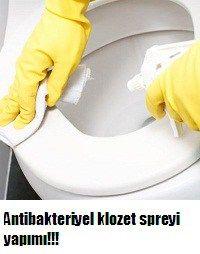 Antibakteriyel klozet spreyi yapımı