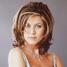 "The Rachel, There was no haircut more desired in the Clinton era than the layered shag sported by waitress Rachel Green (Jennifer Aniston) on Friends. Twenty years later, Aniston calls it ""the ugliest haircut"" she's ever seen. Medium Hair Cuts, Medium Hair Styles, Short Hair Styles, Rachel Haircut, The Rachel Hairstyle, Layered Haircuts For Women, Jennifer Aniston Hair, Shag Hairstyles, Layered Hairstyles"