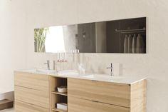 Mueble de baño con la Serie Ice iTOPker. Su color blanco puro es imprescindible para proyectos de interiorismo actuales y en tendencia.