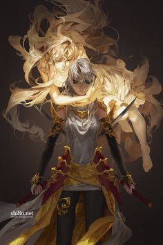 "fantasy art illustration My dear daughter by Shilin: ""You live in the shadow of a Godess"" Dnd Characters, Fantasy Characters, Female Characters, Character Concept, Character Art, Concept Art, Wallpaper Free, 2017 Wallpaper, M Anime"