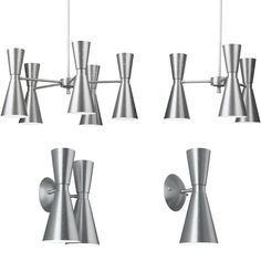 Love these sconces from the Hourglass Collection based on the 1959 Stockholm Series.