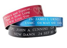 Order From Memorial Bracelets To Honor The Memory Of Those Killed Or Missing In Action