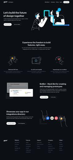 Marvel Developer API landing page design inspiration Lapa Ninja - Landing Page - Ideas of Landing Page - Marvel Developer API Lets build the future of design together Great Website Design, Simple Web Design, Website Design Layout, Web Design Tips, Web Layout, Ios Design, Dashboard Design, Design Process, Design Ideas