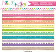 Gold Outline Scalloped Border Clipart – Erin Bradley/Ink Obsession Designs