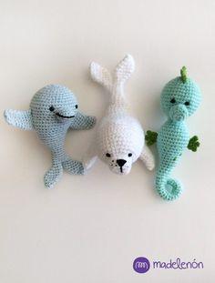 Mi Mar - comprar online Crochet Fish Patterns, Crochet Octopus, Crochet Patterns For Beginners, Crochet Patterns Amigurumi, Crochet Dolls, Kawaii Crochet, Cute Crochet, Crochet Baby, Easy Crochet Animals