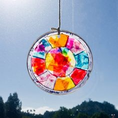 Craftastic: Easy Stained Glass Window Hanging