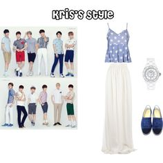 EXO Ivy Club Kris Inspired Outfit by nanrelladu on Polyvore featuring polyvore fashion style Boohoo Giambattista Valli Chanel