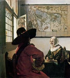 """""""Officer and Laughing Girl"""" by Johannes Vermeer. Frick Collection."""