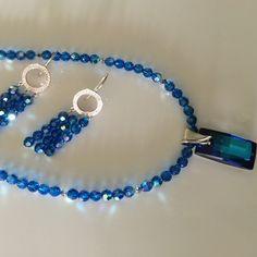 Deep Blue Swarovski Crystal Urban Necklace
