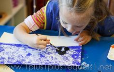 Penguin Painting ~ Home Art Studio Project - 1+1+1=1
