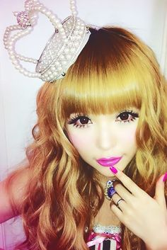 Makeup -- cobtacts-- punk umbre lips --tsubasa masuwaka #gyaru