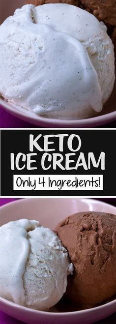 Keto Ice Cream – Just 4 Ingredients! Smooth and creamy keto ice cream, without all the sugar. A dairy free and low carb keto ice cream . Keto Ice Cream, Ice Cream Recipes, Sour Cream, Keto Friendly Ice Cream, Carb Free Ice Cream, Easy Ice Cream Recipe, Ice Cream Coconut Milk, Diabetic Ice Cream, Skinny Recipes