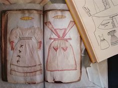 From Dorothy Tyrell's book of needlework. A little girl's sewing samples from the 19c, when sewing was compulsory for girls.