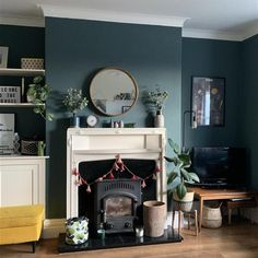 Adobe Color Themes Blue Living Room Lovely Inchyra Blue Of Blue Living Room - Modern Farrow And Ball Living Room, Teal Living Rooms, Living Room Green, Living Room Paint, New Living Room, My New Room, Room Wall Colors, Living Room Decor Colors, Living Room Color Schemes