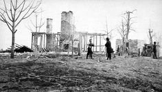 (c. 1867) Ruins of the Cravens House Lookout Mountain - Chattanooga, TN