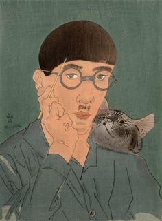 Léonard Tsuguharu Foujita, Autoportrait à l'atelier