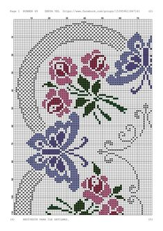 1 million+ Stunning Free Images to Use Anywhere Butterfly Cross Stitch, Butterfly Embroidery, Cross Stitch Rose, Cross Stitch Borders, Cross Stitch Flowers, Counted Cross Stitch Patterns, Cross Stitch Designs, Beaded Embroidery, Cross Stitching