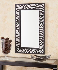 Take a look at this Zebra Print Mirror on zulily today!