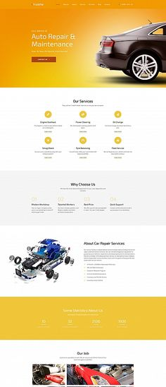 Truck Fix Premium MotoCMS 3 Template: This Moto CMS 3 #template is best suited for automotive businesses: car #parts stores, car #repair #services, etc.Its bright design full of large responsive photos will make a great presentation for your goods and services. TruckFix is powered by the signature MotoCMS #websiteBuilder. An ultimate tool for code-free customization of your website. #autoRepair #maintenance #car #sale #theme #service #auto #automobile #care #MaintenanceStation #repairs