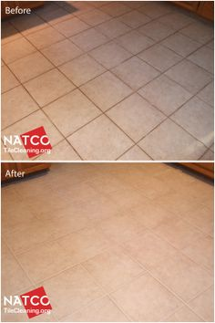 Cleaning And Grout Recoloring Of A Kitchen Floor That Had Dirty Greasy