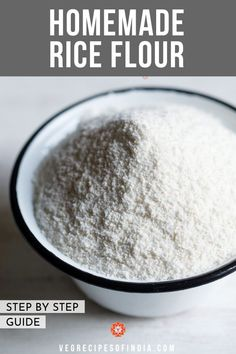 How to make Rice Flour at Home (Stepwise) Rice Flour Recipes, Veg Recipes, Curry Recipes, Cooking Recipes, Cooking Hacks, Cooking Ideas, Recipies, South Indian Vegetarian Recipes, South Indian Food