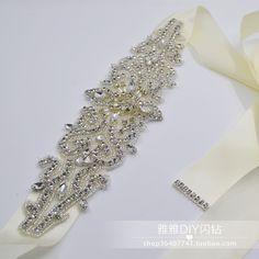 Последние свадебное платье горный хрусталь пояса пояса платье тонкий дикий…