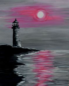 15 Canvas Painting Ideas To Make Your Home Amazing Today 14 Calm Sea And The Bright Moon In A Cold Night Captured In This Beautiful Canvas Painting Easy Canvas Painting, Easy Paintings, Diy Painting, Watercolor Paintings, Canvas Art, Canvas Ideas, Acrylic Canvas, Canvas Paintings, Beginner Painting