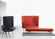 High backrests surround these upholstered seats