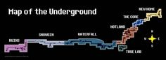 Undertale MAP OF THE UNDERGROUND! | Ruins Snowdin Waterfall Hotland TrueLab TheCore NewHome